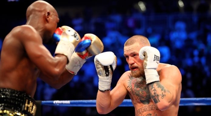 Conor McGregor.reflects Floyd Mayweather