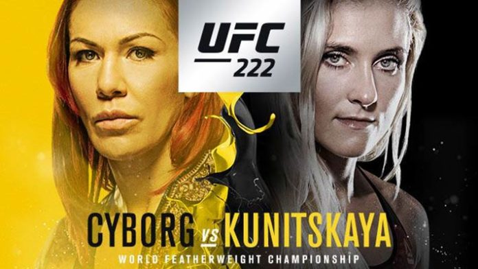 UFC 222 Poster & Updated Fight...