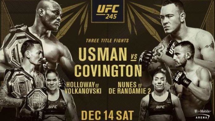 Watch UFC 245: Usman vs. Covington 12/14/19