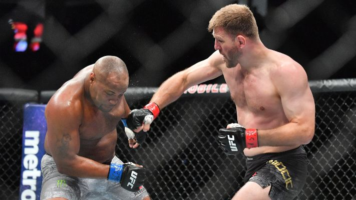 Stipe showing why he might be the best boxer in the UFC