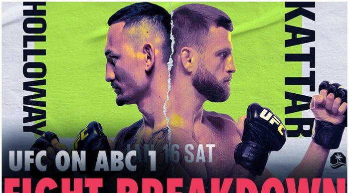 UFC在ABC:Holloway VS Kattar