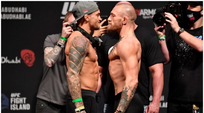 Dustin Poirier、Conor McGregor Faceoff